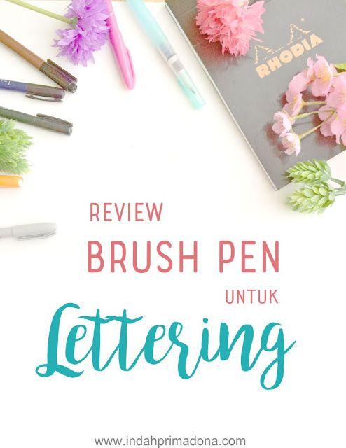 review brush pen untuk lettering