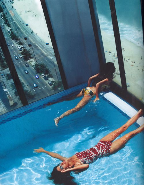 rooftop poolSwimming Pools, Helmutnewton, Dreams, Rio De Janeiro, The View, Beach, Places, Bath Beautiful, Helmut Newton