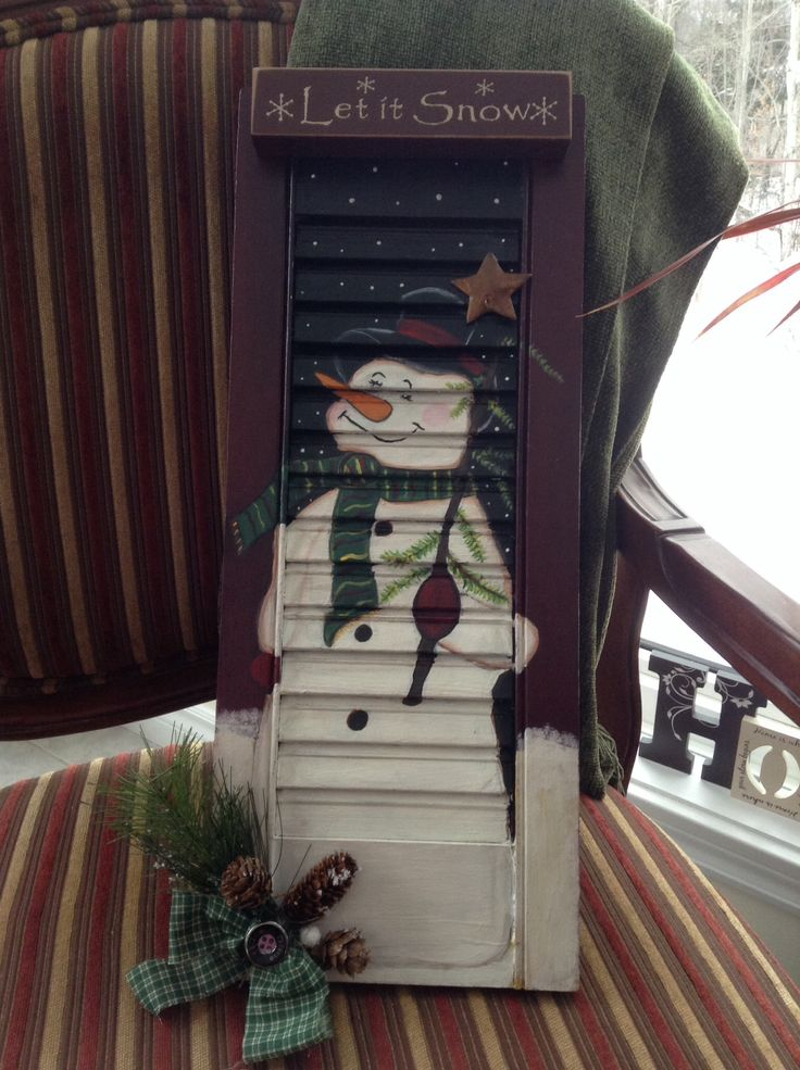 Old Shutters Repurposed Christmas