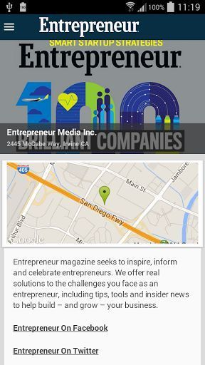 At Entrepreneur magazine, our mission is to help entrepreneurs start, run and grow successful businesses. Get the latest advice, interviews and insight anytime with our FREE app on your Android phone or tablet. <p>Browse the latest headlines from topics like startups, leadership, management, finance and marketing. Plus get FREE access to select stories from the latest issue of Entrepreneur magazine.<p>The Entrepreneur Daily app also features: <p>- Daily posts from over 300 expert…