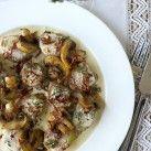 Fläskfilépanna med lufttorkad skinka & champinjoner - Recept från Mitt kök - Mitt Kök