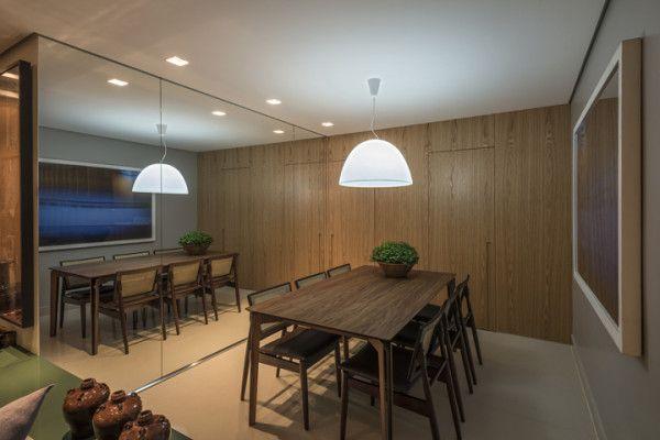 Sala De Tv E Jantar Em L ~ sala em l com decoração contemporânea sala de jantar espelho mesa