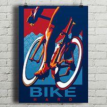 Bike Hard - plakat rowerowy, minimalmill
