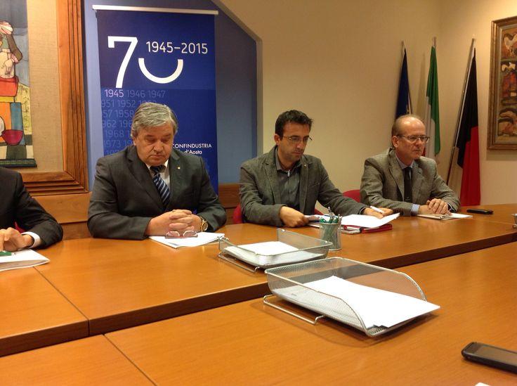 Da sinistra Giancarlo Giachino, Simone Lingeri e Pierre Noussan