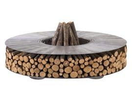 New Zero Fire Pit Aluminum  Contemporary, Industrial, Organic, Rustic  Folk, Metal, Natural Material, Fireplace Mantels  Accessory by Design Collectif