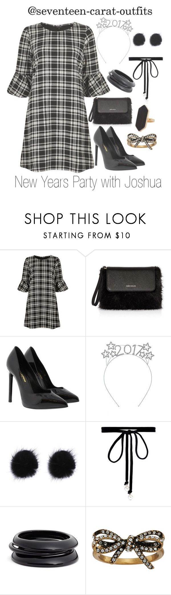 """""""New Years Party with Joshua"""" by seventeen-carat-outfits ❤ liked on Polyvore featuring River Island, Karen Millen, Yves Saint Laurent, Joomi Lim, ZENZii, Marc Jacobs and Jaeger"""