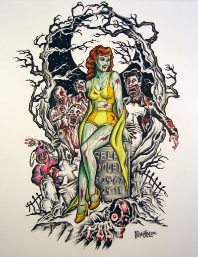 best 25 zombie girl tattoos ideas on pinterest zombie tattoos zombie girl and zombie art. Black Bedroom Furniture Sets. Home Design Ideas