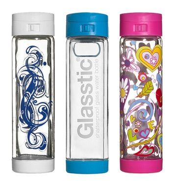 Two lucky winners will each receive a Glasstic Glasstic Shatterproof Glass Water Bottle of their choice #Giveaway ends 5/31/15
