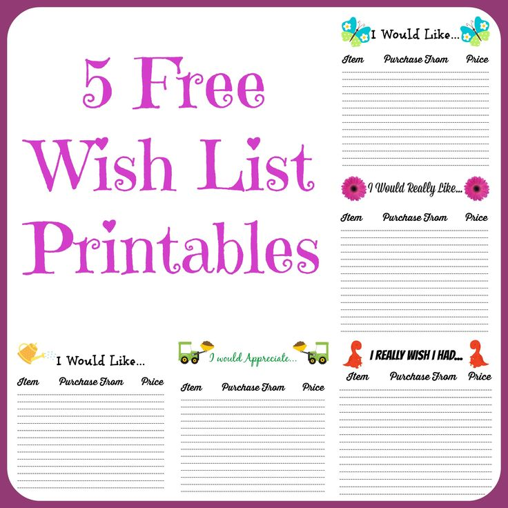 86 best printables planner images on Pinterest DIY, Agenda - christmas wish list paper