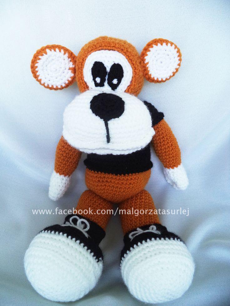 Małpka na szydełku ok. 40 cm