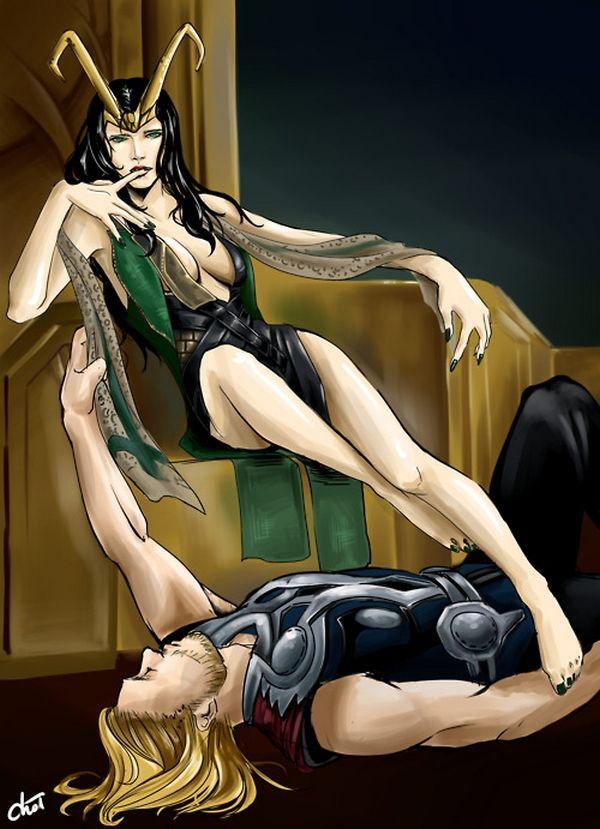 Lady Loki and Thor