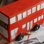 Shoe box double decker! Would go great with a cardboard Big Ben!!