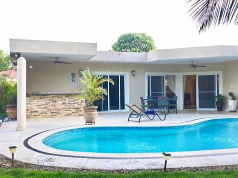 133 sqm Home For Sale in Casa Linda Sosua, Puerto Plata. For Sale at $199,000.00. Stunning Villa in Gated Community, Casa Linda Amazing home in incredible tropical garden.