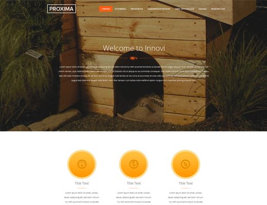 Template 023: Proxima Our new website template. See the live view!  #website #design #responsive #nettside