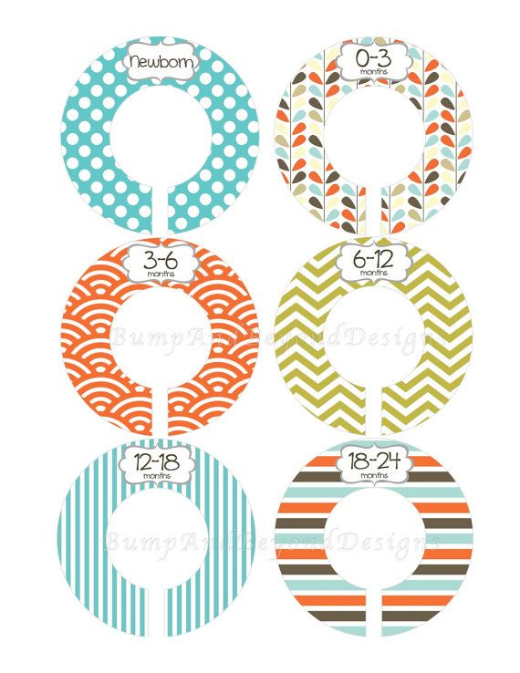 Custom Baby Closet Dividers Boy Closet Organizers Blue Brown Modern Closet Dividers Baby Shower Gift Baby Boy Nursery 007 on Etsy, $9.00