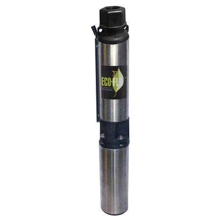 Eco-Flo Products EFSUB7-123 230V 3/4 HP 3-wire Water Well Submersible Pump, Black