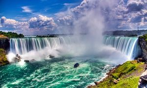 Groupon - Stay with Couples or Family Package at Four Points by Sheraton Niagara Falls Fallsview Hotel, ON. Dates into September.  in Niagara Falls, ON. Groupon deal price: $89