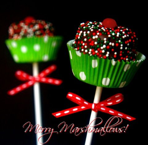 Marshmallow pops. Cute presentation especially if using the super sized marshmallows!
