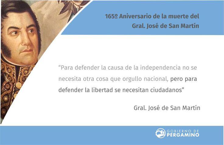 """Municipio Pergamino en Twitter: """"17 de agosto - Conmemoración del 165º…"""