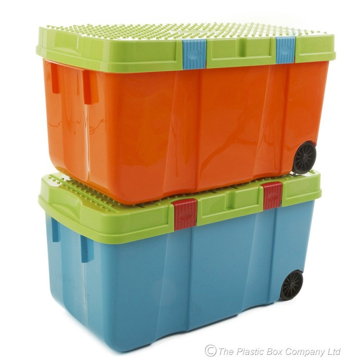 Large colourful storage.  Looks sturdy too.  And has wheels.
