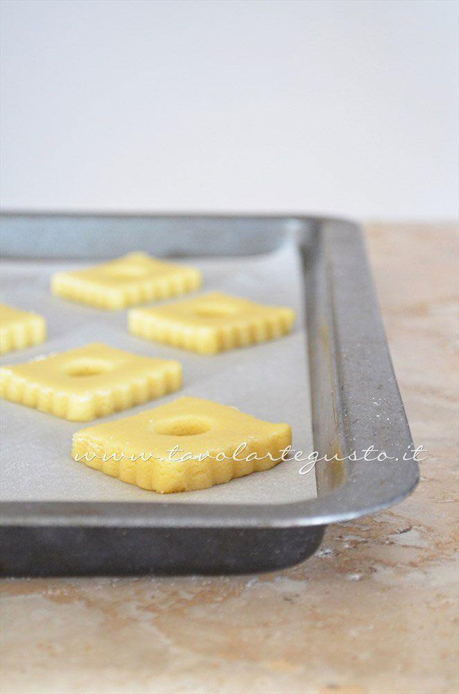 Biscotti per colazione pronti per essere infornati -  Ricetta Biscotti per colazione Campagnole home made