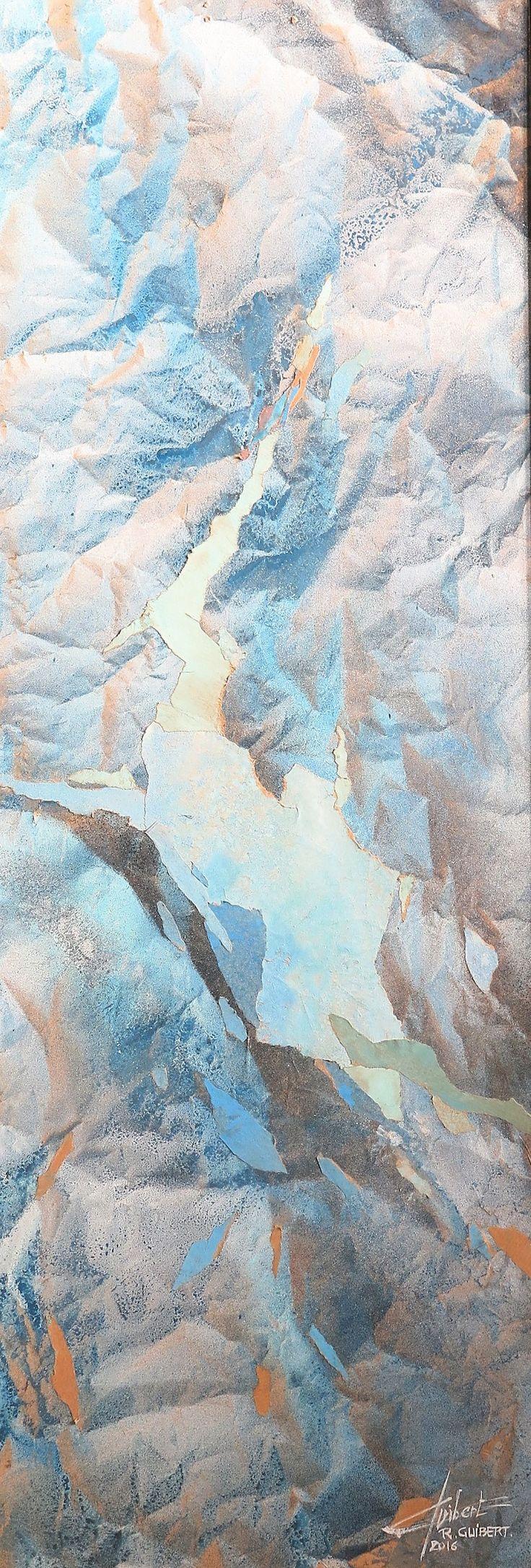 AQUARELLE sur papier kraft 32 x 95 cm Raymond GUIBERT 2016.