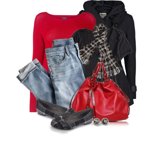 Weekend Outfits - sweaters, t-shirts, jackets, jeans, flat shoes, bags, earrings, scarves