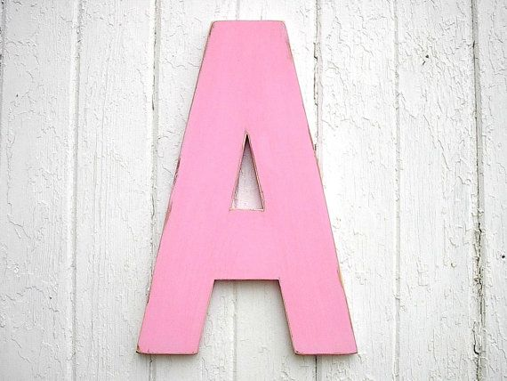 kids wall art wooden letter a 18 shabby chic wall by lettersofwood 4200