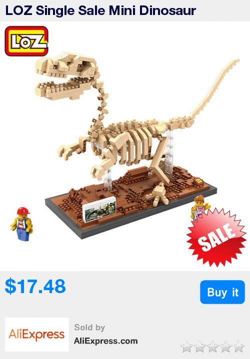 LOZ Single Sale Mini Dinosaur Tyrannosaurus Rex Triceratops Velociraptor Fossil 3D Building Blocks Toys for Children * Pub Date: 11:45 Sep 12 2017