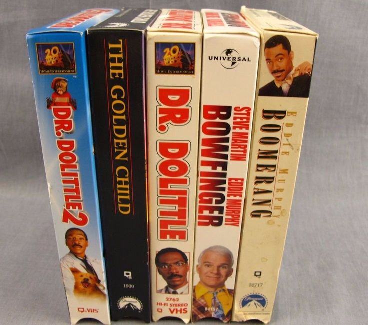 Eddie Murphy Lot of 5 VHS Videos Dr. Dolittle Golden Child Boomerang Bowfinger