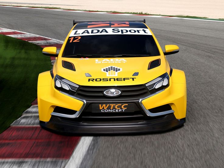 Lada 2014. 2014 Lada Vesta WTCC Concept race racing wallpaper background