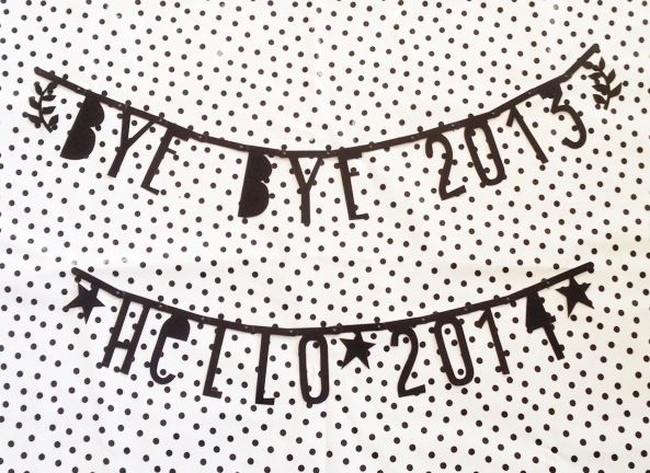 #Wordbanner #tip: By bye 2013 hello 2014 - Buy it at www.vanmariel.nl - € 11,95