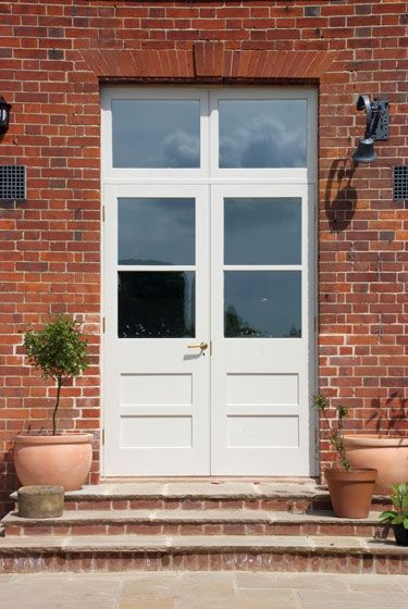 victorian-style french doors + transom