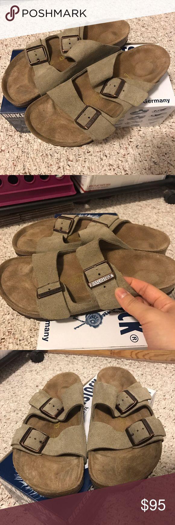 Birkenstock Arizona taupe Mint condition Birkenstock worn once. No footprints, no box included. Sz 40 Birkenstock Shoes Sandals