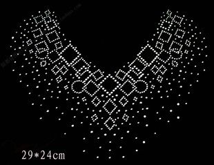 Rhinestone Stencils Patterns | Rhinestones rhinestone pattern sweater neckline hot map decoration ...