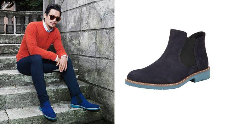 Erkek modasının yükselen rengi mavi ve tonları, Ekim yağmurlarında stilinizi renklendirmek için Zafer Plaza Hotiç mağazasında...