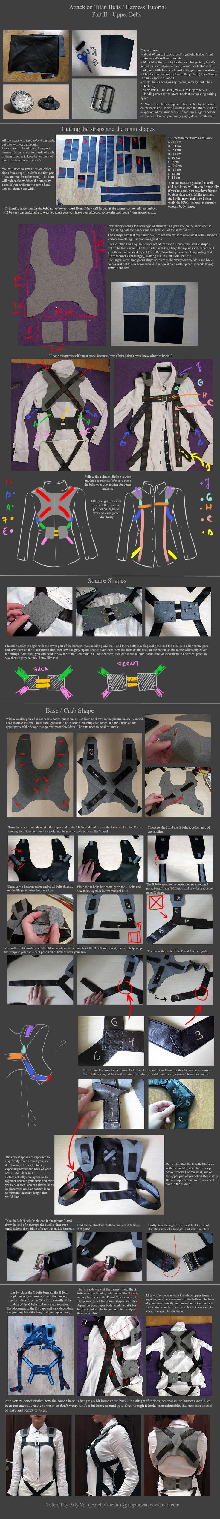 Attack on Titan Belts / Harness tutorial - Part 2 by neptunyan.deviantart.com on @deviantART