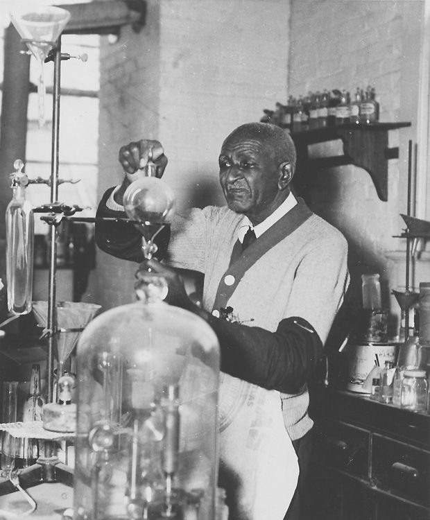 George Washington Carver Inventions | View full size George Washington Carver is seen working in his lab ...