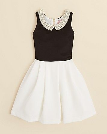 Zoe Girls' Pearl Collar Party Dress - Sizes 7-16 | Bloomingdale's