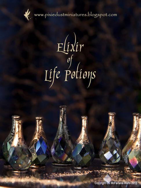 Pixie Dust Miniatures: Elixir of Life Potions