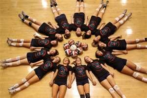 I want this picture done with the vball team...how fun