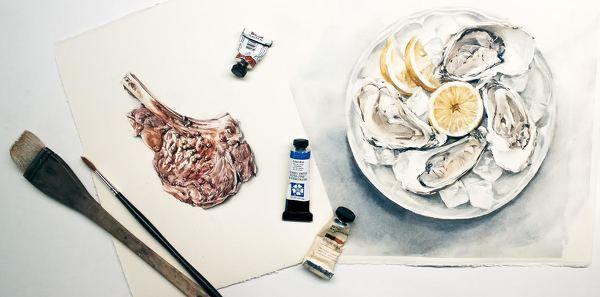 На этом мини-курсе мы нарисуем две сложных иллюстрации — тарелку с устрицами и лимоном и рибай-стейк. Приоткроем секреты профессиональных food-иллюстраторов и научимся реалистично изображать блюда.