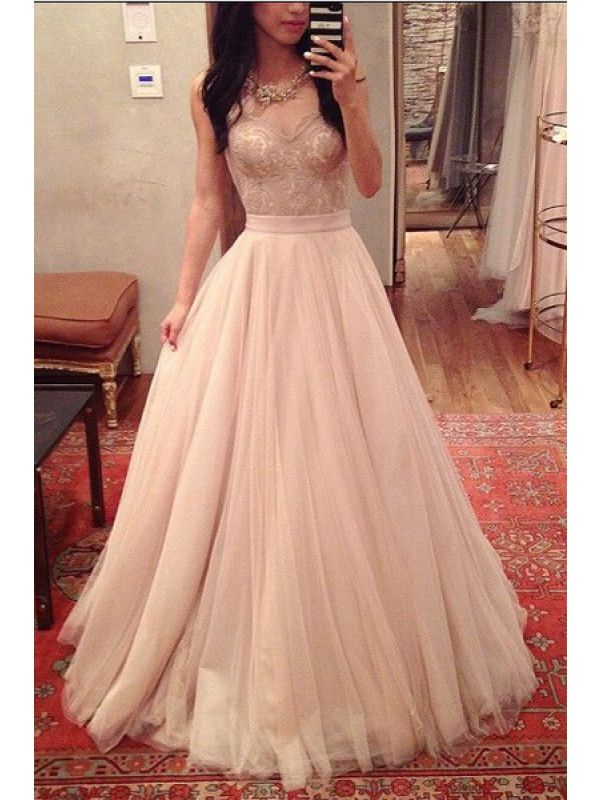 Gorgeous Sweetheart  Applique Tulle Floor Length Prom Dress Evening Dresses (ED1343) - Evening Dress - SPECIAL OCCASION DRESSES
