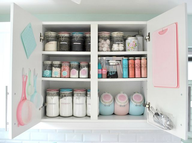 Perfect baking cupboard by toriejayne, via Flickr - Love this, so pretty <3 <3