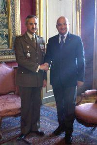 Il Presidente Valerio Cattaneo incontra il Generale  Ruggiero a Palazzo Lascaris
