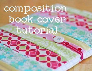 Composition notebook with fabric ... this is for a sewing pattern. I think I am going to try using spray adhesive since I an not so great at following patterns!