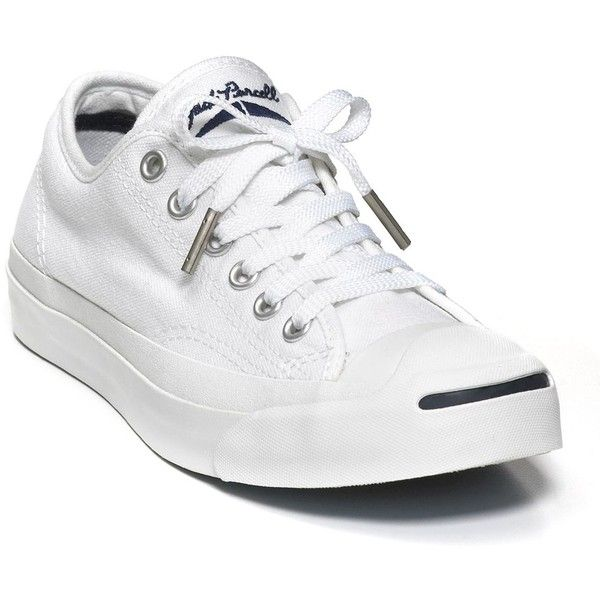 Converse Jack Purcell White Core Sneakers (79,340 KRW) ❤ liked on Polyvore  featuring shoes