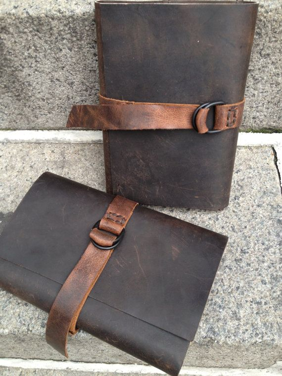 Leather bound journal men - handmade leather journal - travel vacation journal