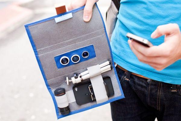 iPhone Lens wallet with lenses #ilovephotojojo