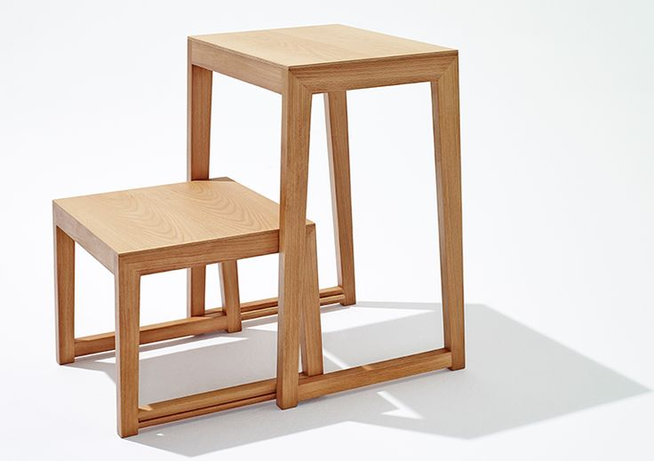 holz trittleiter, stehleiter THEO STEP von sixay furniture - designermöbel aus vollholz